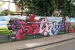 Huge mural for Bethwin Road Adventure Playground