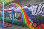 Whitstanley Estate ball pen mural