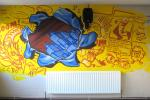 6th Form mural at Lampton School, Hounslow