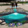 3D floor mural in Baku, Azerbaijan