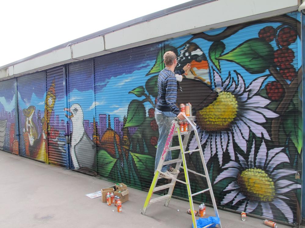 Aylesbury youth centre mural graffiti art workshops for Community mural