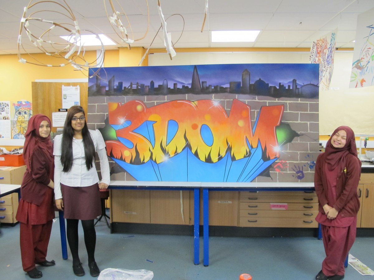 Graffiti street art course for mulberry girls school for Extra mural courses