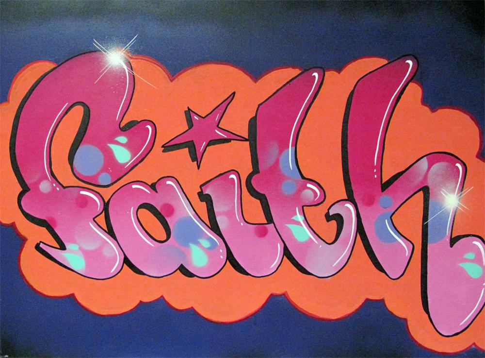 Faith Graffiti for Pin...